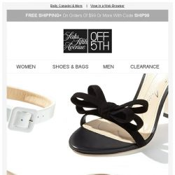 [Saks OFF 5th] Direct from Saks SHOE Deals: Bally & More