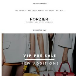 [Forzieri] Members-only SALE Welcomes New Arrivals