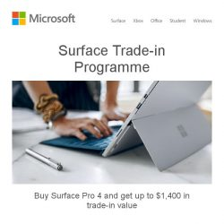 [Microsoft Store] Trade-in your old device and save up to $1,400*. Learn more >