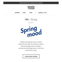 [Yoox] Spring Mood: the new shoot from Living Corriere della Sera
