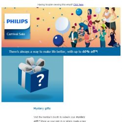 [PHILIPS] Philips Carnival Sale | Up to 60% off | 19th -21st May 2017