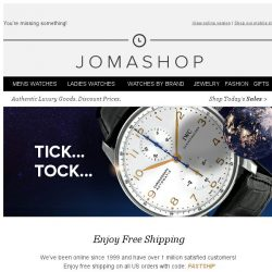 [Jomashop] Hurry! Before these items sell out!