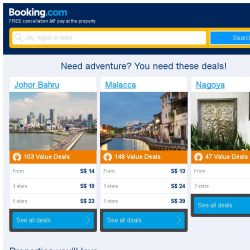 [Booking.com] Johor Bahru and Malacca – great last-minute deals from S$ 13