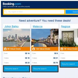 [Booking.com] Johor Bahru and Malacca – great last-minute deals from S$ 6