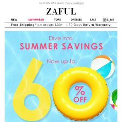 [Zaful] 60% OFF Summer Saving Starts Now! GO!!