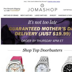 [Jomashop] HURRY: Last Minute Gifts & Coupons + Free Mother's Day Delivery Available!