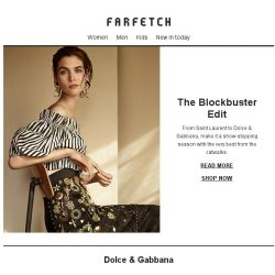[Farfetch] The Blockbusters | Saint Laurent, Stella McCartney, Dolce & Gabbana and more
