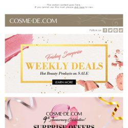 [COSME-DE.com] NEW Weekly Deals + 9th Anniversary 15% Off & Free Gift