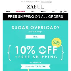 [Zaful] FREE Shipping + Extra 10% OFF! Final Hours!