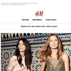[H&M] Shop online! 20% off + free delivery at hm.com