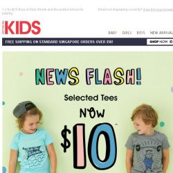 [Cotton On] #TRENDING: $10 Tees! Exclusively online