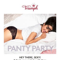 [Triumph] 🎉 It's a panty party + 25% off!­­