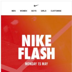 [Nike] Get Ready: Nike Flash. Up to 40% Off.