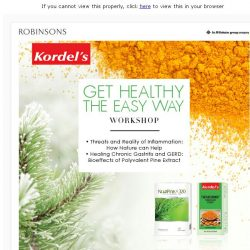 [Robinsons]  Get healthy with Kordels! Sign up now