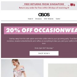 [ASOS] Dressing up? Here's 20% off