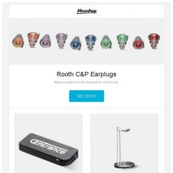 [Massdrop] Rooth C&P Earplugs, CEntrance DACport Slim - Massdrop Exclusive, Just Mobile HeadStand and more...