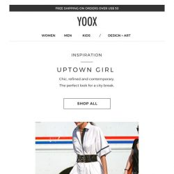 [Yoox] Uptown Girl: for a chic weekend in the city