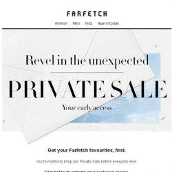 [Farfetch] Bargainqueen, here's your exclusive Private Sale access
