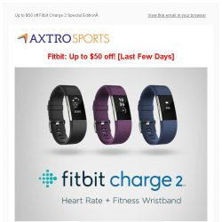 [AXTRO Sports] Grab Your Fitbit NOW: Up to $50 off Charge 2 Special Edition & more!
