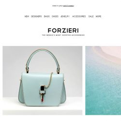 [Forzieri] Island Paradise | Aqua is the Trend for Summer Accessories