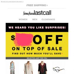 [Last Call] Confirmation ❯❯❯ We're offering you surprise savings off your purchase!