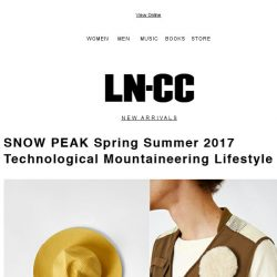 [LN-CC] Snow Peak: Technological mountaineering lifestyle + SALE up to 50% off