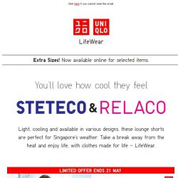 [UNIQLO Singapore] Take a break away from the heat ☀
