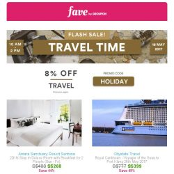 [Groupon] ✈ Special travel promo inside – don't miss out!