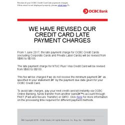 [OCBC] OCBC Bank – Revisions to your OCBC Credit Card Charges