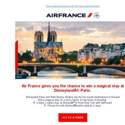 [AIRFRANCE] Win a magical stay in Disneyland® Paris!