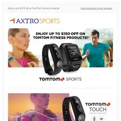[AXTRO Sports] FitnessFest 2017 Exclusive : up to $150 off selected TomTom trackers!