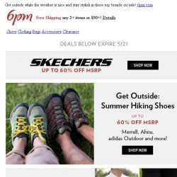 [6pm] The Get Outside Event: Columbia, Nike Golf and more on sale!