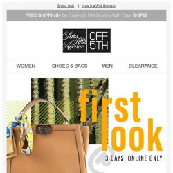 [Saks OFF 5th] Get ready for summer w/ an EXTRA 20% OFF!