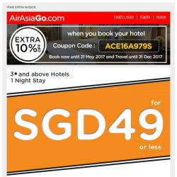 [AirAsiaGo] 🎁 Great News! Grab these hotel deals now - SGD 49 or less. 🎁