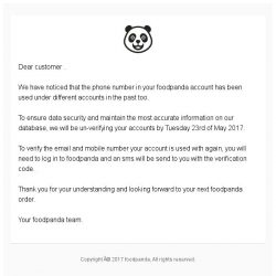 [Foodpanda] Verify your foodpanda account