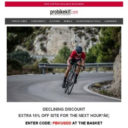 [probikekit] Declining Discount - Extra 16% off Site! [ONE HOUR ONLY]