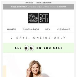 [Saks OFF 5th] Dress to IMPRESS w/ an EXTRA 20% OFF!