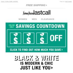 [Last Call] LIMITED TIME! Save up to $100 + black & white chic