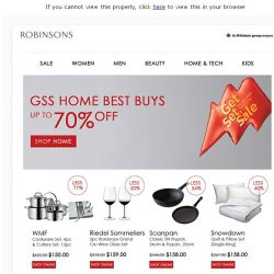 [Robinsons]  GSS Online - Up to 70% OFF! Shop Home, Tech & Honey.