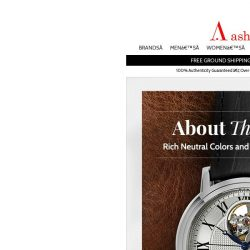 [Ashford] Explore Our Collection of Leather Strap Watches