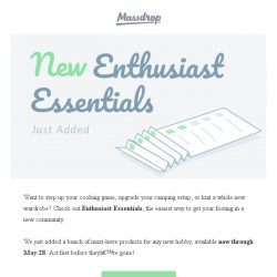 [Massdrop] Start a new hobby with Enthusiast Essentials.