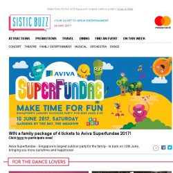 [SISTIC] WIN tickets for your family to Aviva Superfundae 2017 this June!
