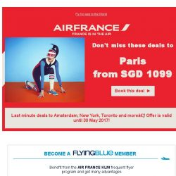 [AIRFRANCE] Pssst, we have some deals for you!