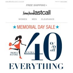 [Last Call] The Memorial Day Sale starts NOW + deeper discounts on Designer New Arrivals
