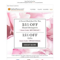 [FarEastFlora] Exclusive Promo Code Just For You because You Deserve It