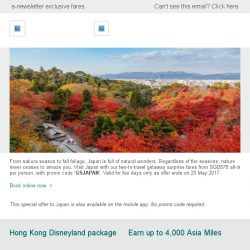 [Cathay Pacific Airways] Getaway surprise: Travel to Japan from SGD578 all-in