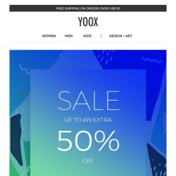 [Yoox] Sale up to an EXTRA 50% off