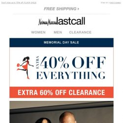 [Last Call] FORTY.PERCENT.OFF.EVERYTHING. (including VINCE for both of you)