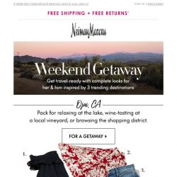 [Neiman Marcus] Going somewhere? Your getaway styles
