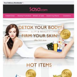 [SaSa ] The Secret to Well-Toned, More Youthful and Firmer Skin!